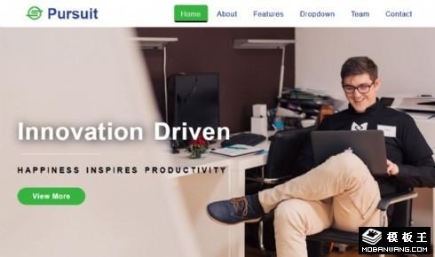 创新产品驱动响应式网页模板