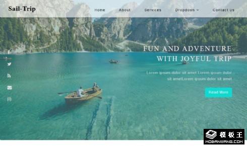 帆船旅行响应式网站模板