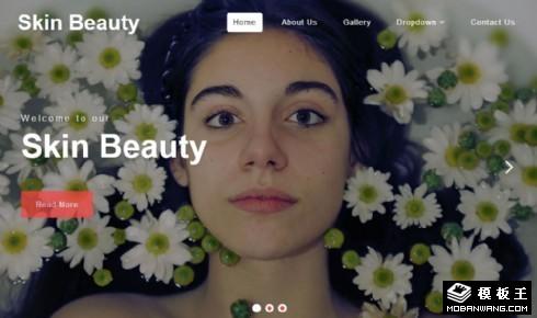 皮肤美容SPA响应式网站模板