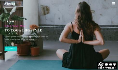 活力瑜伽生活响应式网页模板