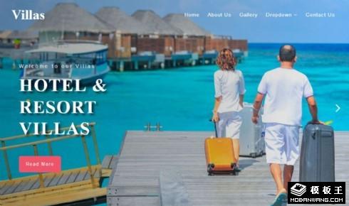休闲旅行度假酒店响应式网站模板