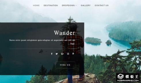 旅行景点游玩介绍响应式网站模板