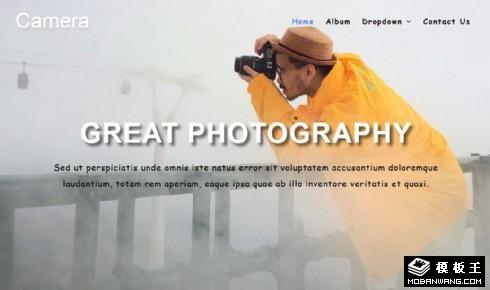 摄影业务说明展示响应式网站模板