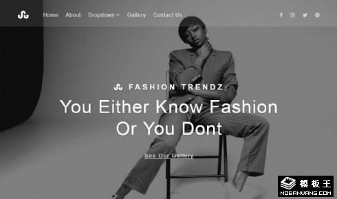 时尚潮流创造响应式网页模板