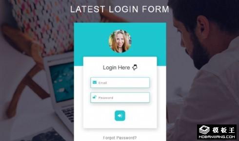 用户登录表单网页模板
