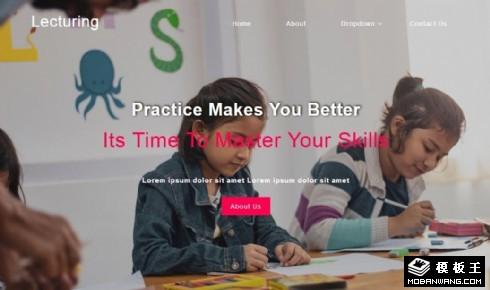 实践技能教育响应式网站模板