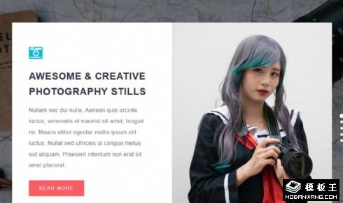 精彩创意摄影展示响应式网页模板