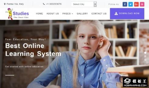 在线教育服务展示响应式网页模板