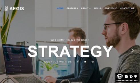 机构介绍动态响应式网站模板