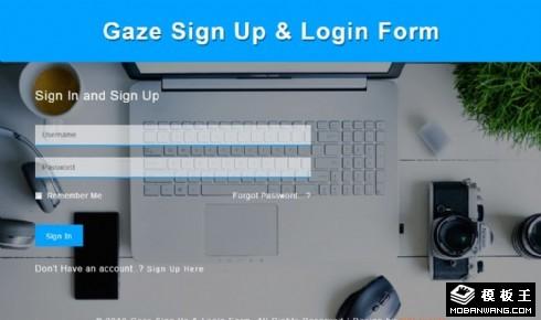数码登录表单响应式网页模板