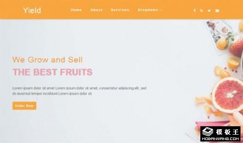 农业产品销售动态响应式网页模板