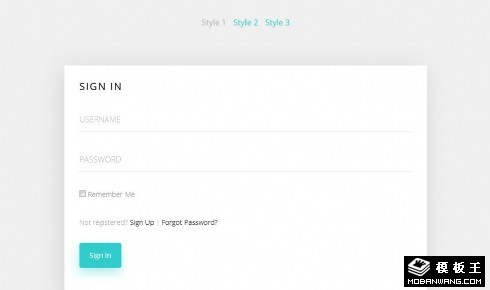 简洁选项卡登录框网页模板