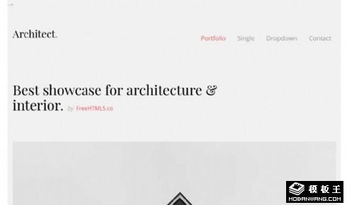 灰色结构建筑设计响应式网站模板