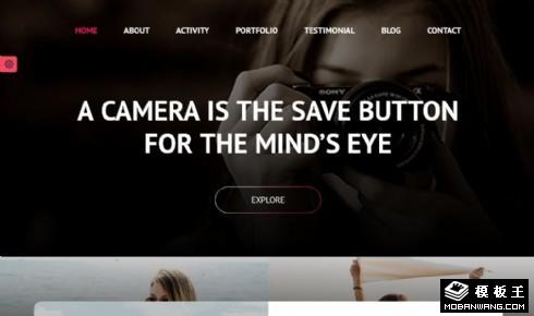 专业摄影师展示动态响应式网页模板