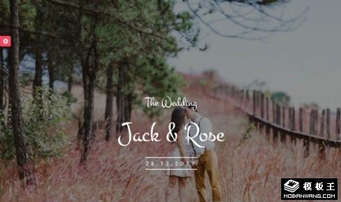 婚礼信息展示响应式网站模板