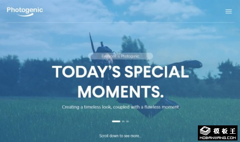 特别时刻摄影展示响应式网页模板
