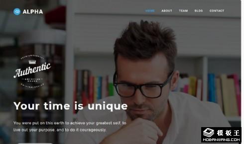 企业软件产品展示响应式网页模板