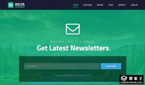 绿色创意服务公司响应式网页模板