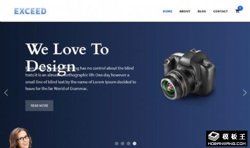 创意产品动态展示响应式网站模板