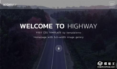 旅行图集展示响应式网站模板