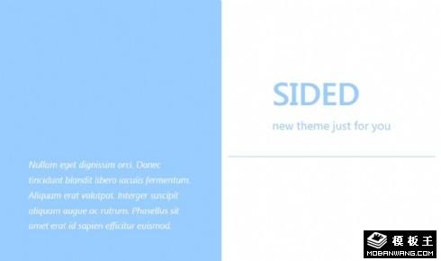简洁二列排版资讯响应式网页模板