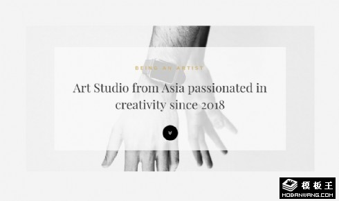 简约艺术创作工作室响应式网页模板