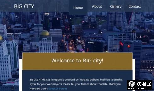 都市切换介绍响应式网页模板