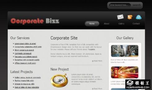 公司业务信息展示网页模板