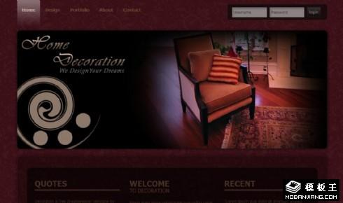 酒红复古信息展示网页模板