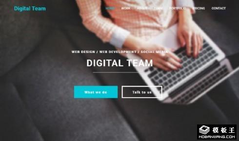 数字团队服务展示响应式网页模板