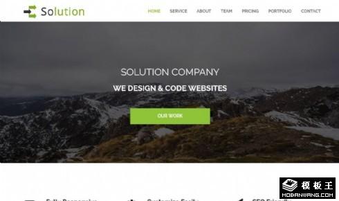 解决方案项目服务展示响应式网页模板