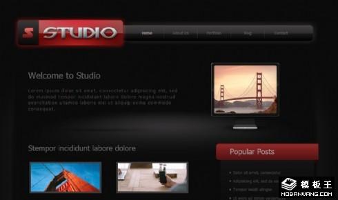 黑色设计工作室网页模板