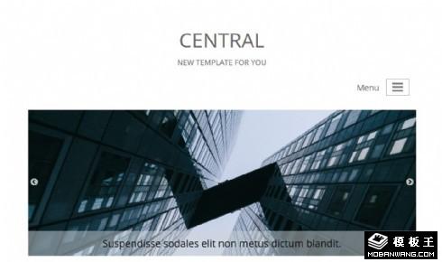 简约企业产品信息响应式网页模板