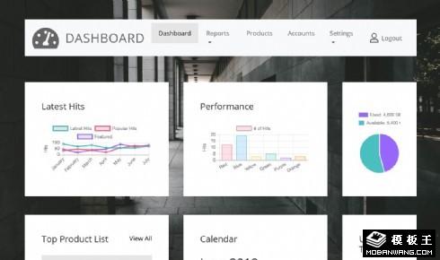 数据排行后台展示响应式网页模板
