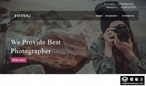 摄影制作工作室响应式网页模板