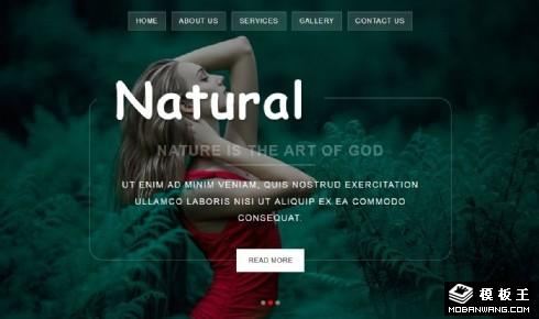 自然景点展示动态响应式网页模板