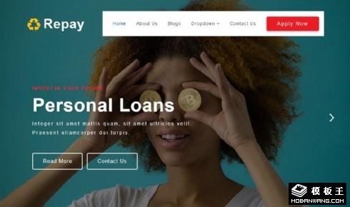 借贷企业服务响应式网页模板