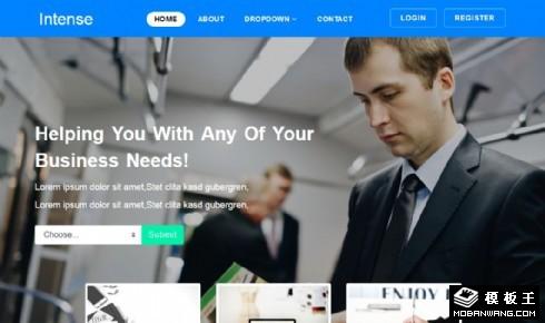 商务动态服务展示响应式网站模板
