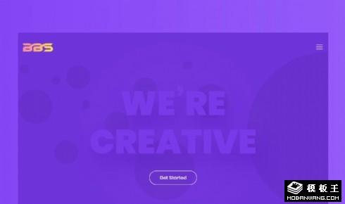紫色创意服务动态响应式网页模板