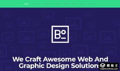 创意多彩信息排版响应式网页模板