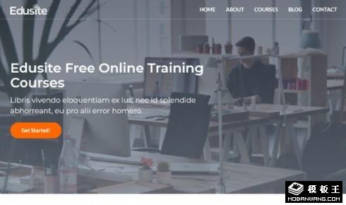 免费在线教育展示响应式网页模板