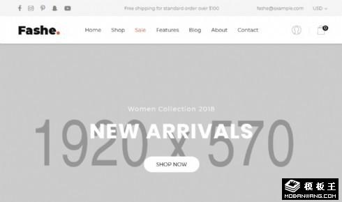 图文产品销售展示响应式网页模板