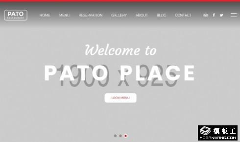 酒店预订展示动态响应式网站模板