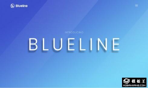 蓝色在线信息展示响应式网页模板