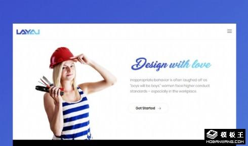 产品服务项目说明响应式网页模板