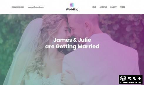婚礼摄影服务响应式网页模板