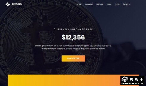 虚拟货币服务中心响应式网页模板