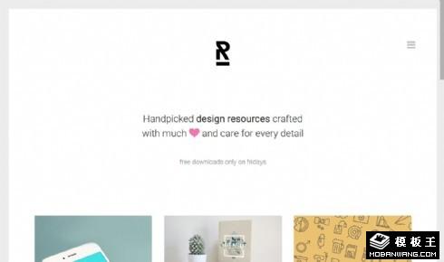 创意作品图片展示响应式网站模板