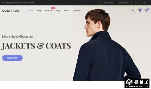 简约通勤服饰商店响应式网站模板