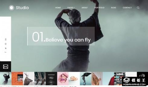 图片创意工作室响应式网站模板
